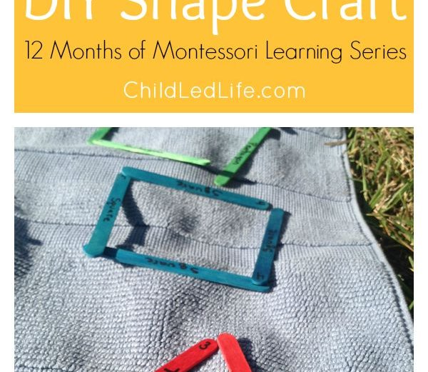 DIY Shapes Crafts – Montessori Ideas