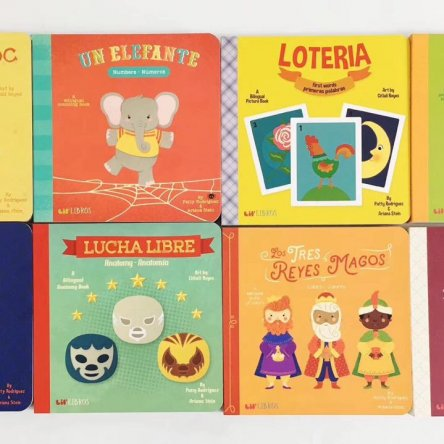 Spanish/English bilingual Board Book Set (8 books)