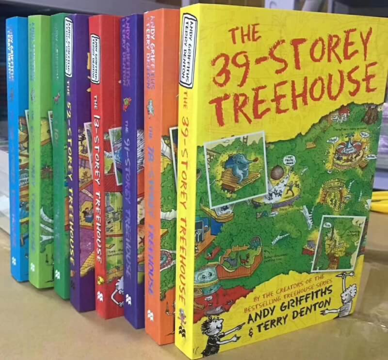 Andy Griffiths The Treehouse 8 Books Collection Box Set