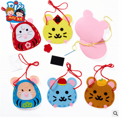 Chinese New Year DIY Craft – Stitched Mouse Bag