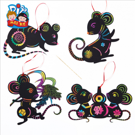 Chinese New Year DIY Craft – Scratch & Reveal Mouse