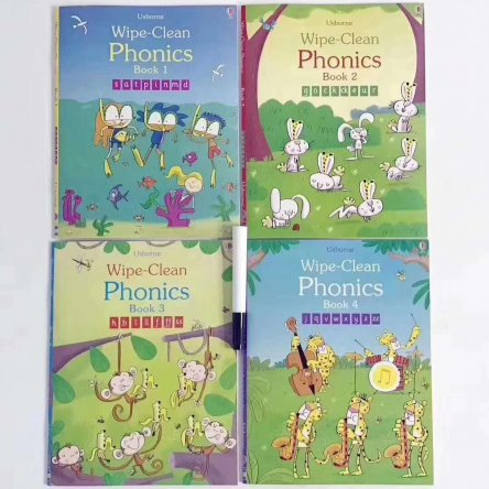 Wipe Clean Phonics Books – 4 book set