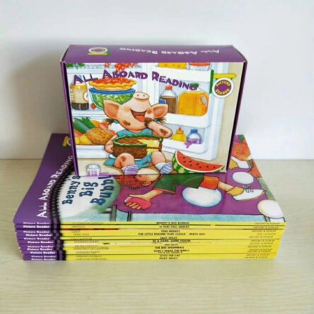 All Aboard Reading Book and Flash Card Set