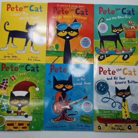 Pete the Cat 6 Book Set